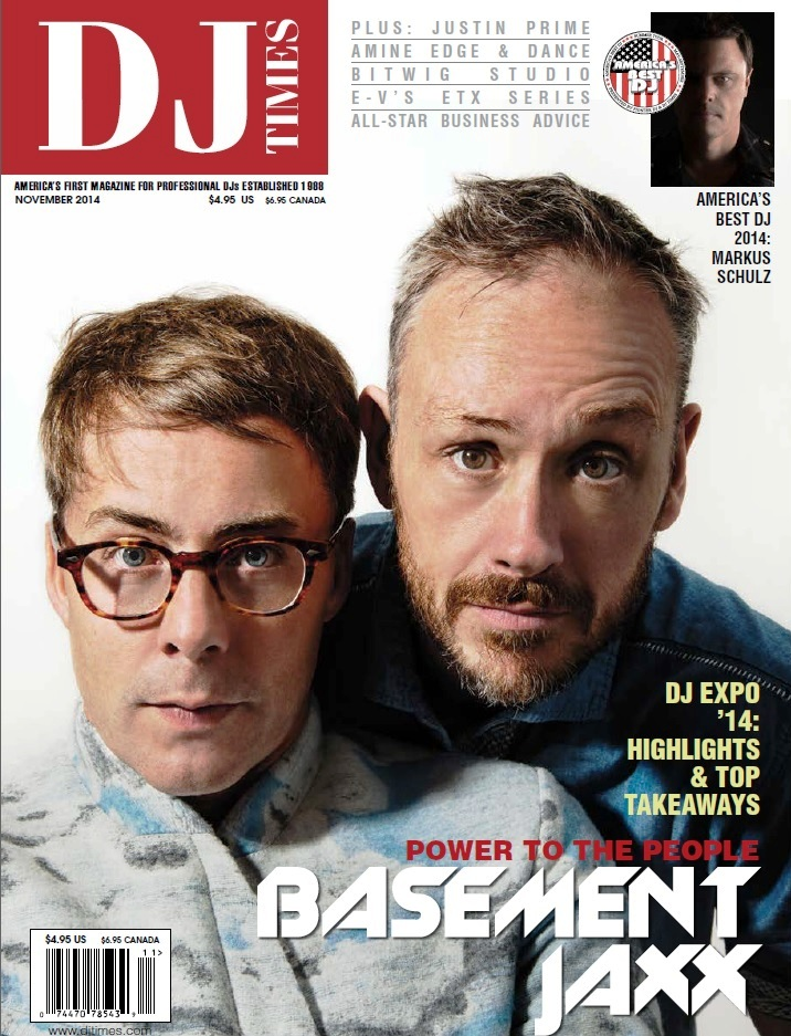 DJ Times November 2014 - Basement Jaxx