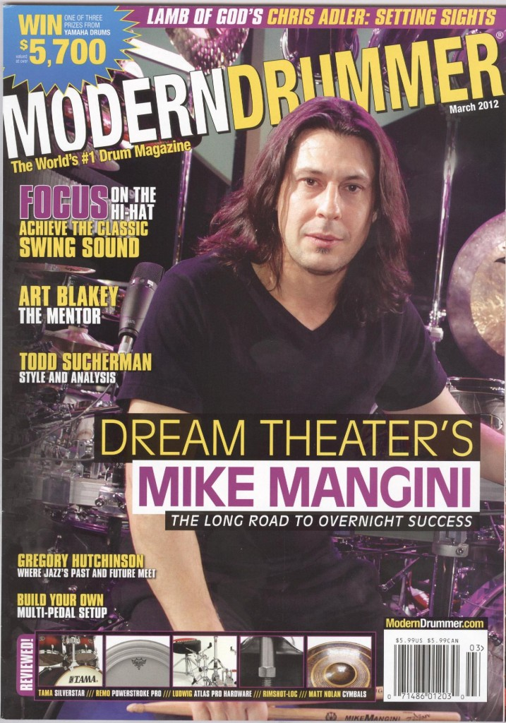 MODERN DRUMMER - March 2012 (cover)