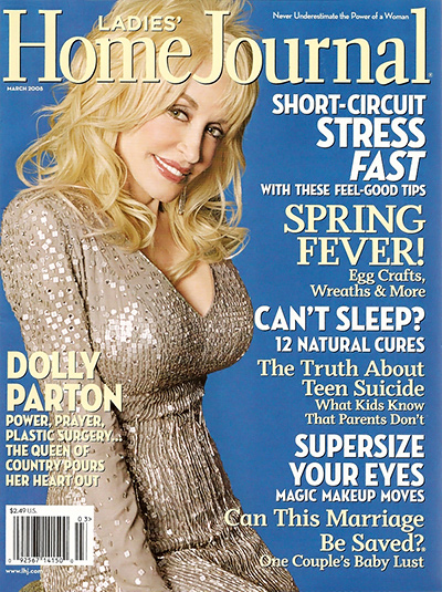 Dolly Parton - Ladies Home Journal March 2008 Issue