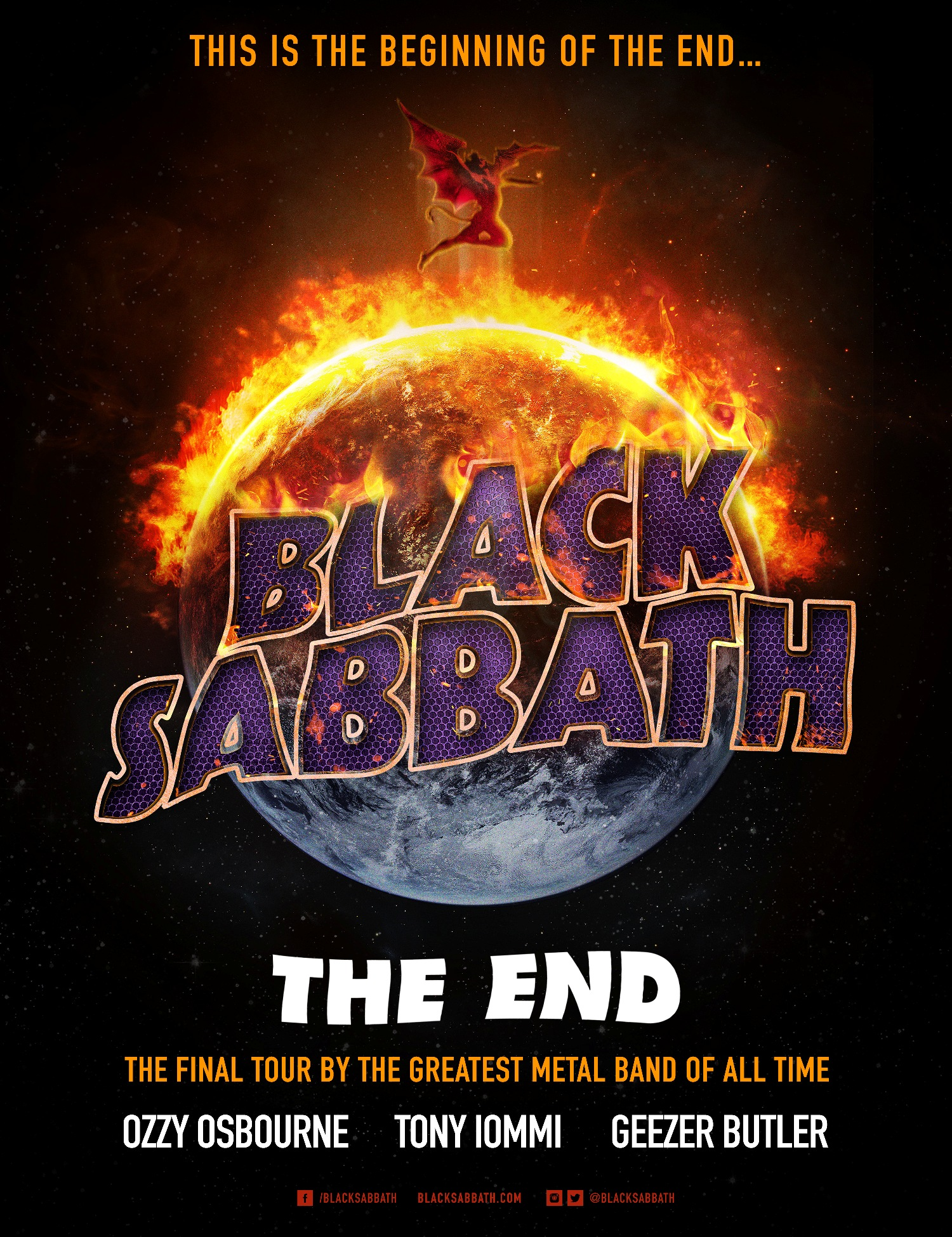Black sabbath tour dates in Melbourne