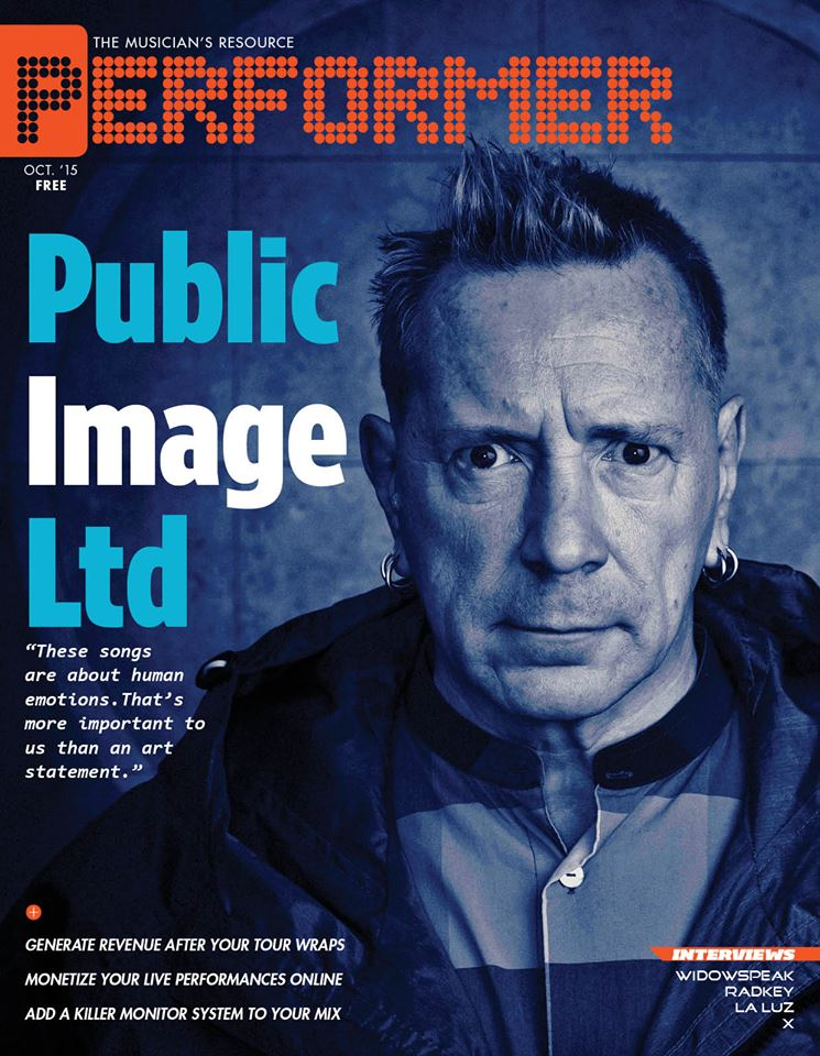 PERFORMER Magazine-PiL Cover